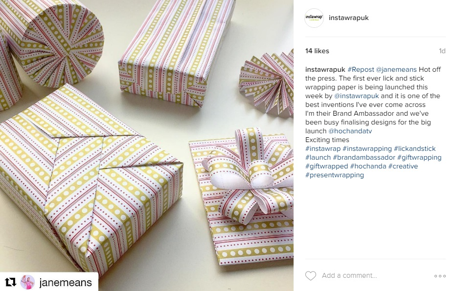"Review from Jane Means ""the gift wrap guru"""